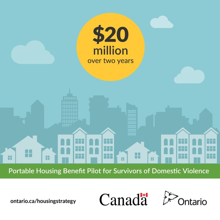 Ontario Establishes Portable Housing Benefit to Help Survivors of Domestic Violence