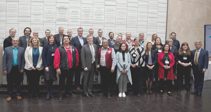 Minister Rod Phillips (front row, fifth from left), Council Chief Glen Hare (front row, sixth from left) and Parliamentary Assistant Andrea Khanjin (front row, fourth from right) met with the Great Lakes Guardians' Council today to discuss solutions to protect and preserve our Great Lakes.