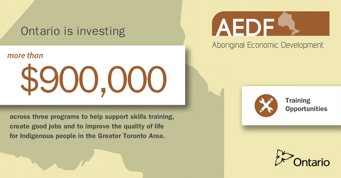 Ontario Invests $900,000 in Indigenous Economic Development in the Greater Toronto Area