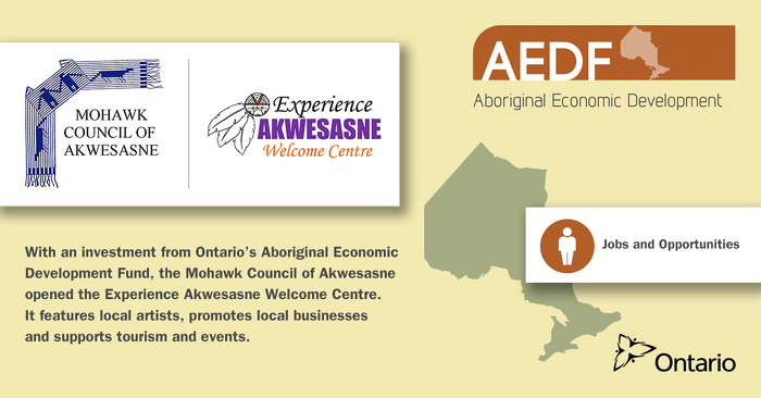 Ontario Invests $175,000 In Indigenous Economic Development With The Mohawks Of Akwesasne