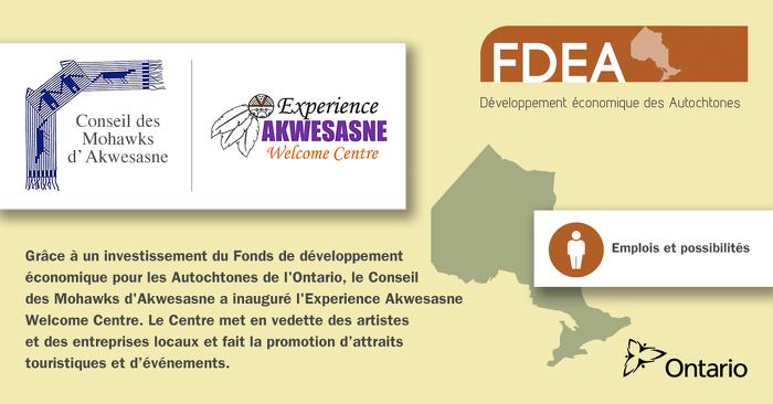 L'Ontario investit 175 000 $ pour le développement économique avec les Mohawks d'Akwesasne