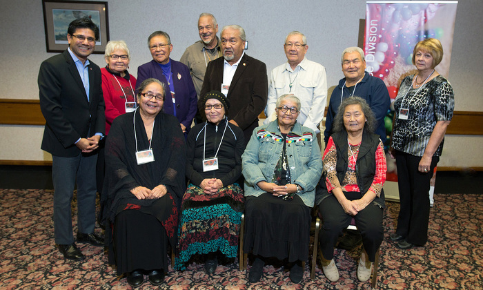 AG Naqvi with new Elders Council at Gladue Summit in Thunder Bay