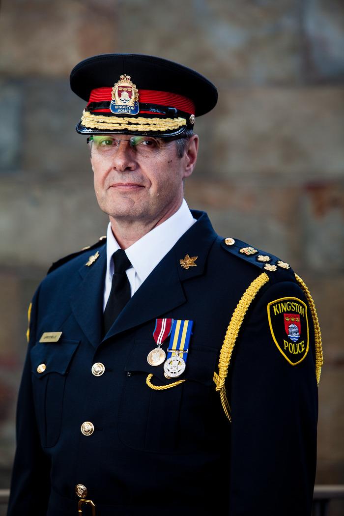 Chef Gilles M. Larochelle, la police de Kingston