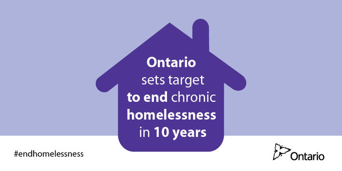 Ontario commits to ending chronic homelessness in 10 years