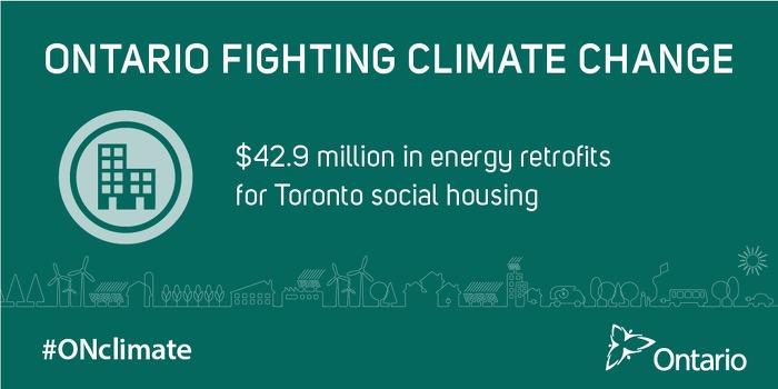 $42.9 million in energy retrofits  for Toronto social housing