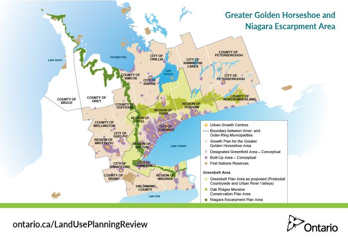 Greater Golden Horseshoe and Niagara Escarpment Area