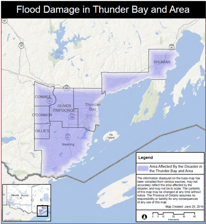 Province Activates Disaster Recovery Assistance for Ontarians in the City of Thunder Bay and Surrounding Area