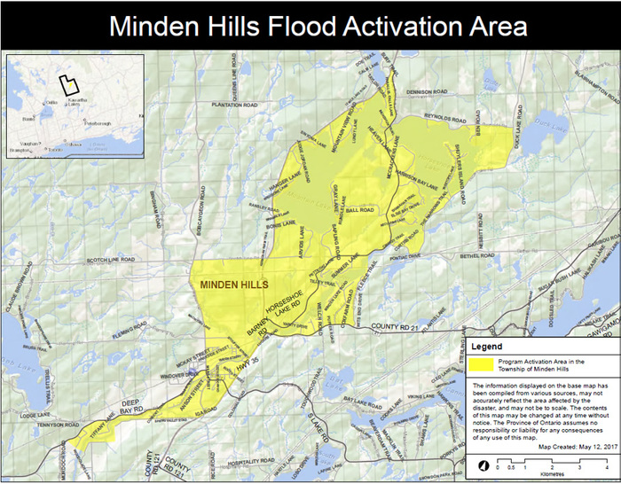 Province Activates Disaster Recovery Assistance for Ontarians in Minden Hills