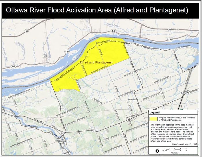 Ottawa River Flood Activation Area (Alfred and Plantagenet)