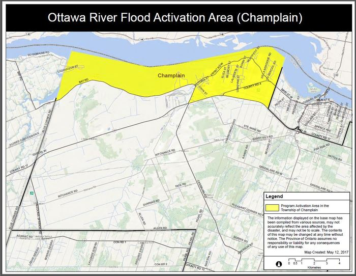 Ottawa River Flood Activation Area (Champlain)