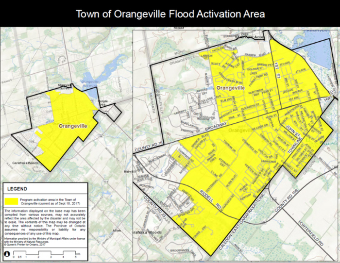 Province Activates Disaster Recovery Assistance for Ontarians in Orangeville