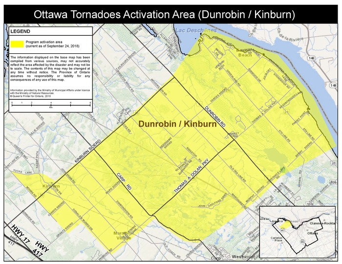 Province Releases Disaster Assistance Activation Area Maps for Tornado-Affected Residents in Ottawa
