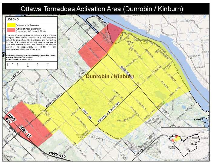 Updated: Province Expands Activation Area for the Disaster Recovery Assistance Program in Ottawa