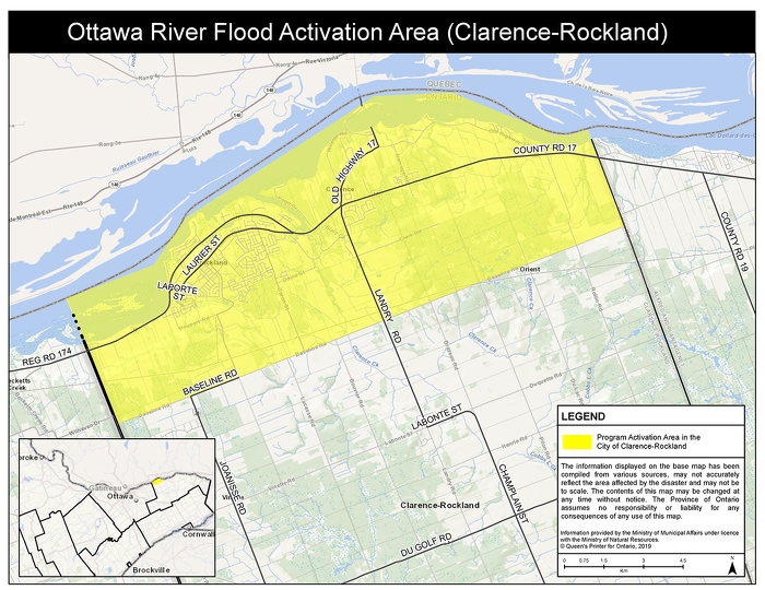 Clarence-Rockland Flood Activation Area
