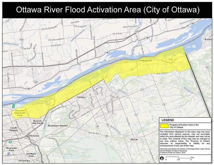 Ottawa Flood Activation Area East