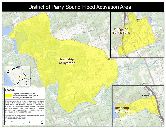Ontario Government Activates Disaster Recovery Assistance to Support Residents in Parry Sound District