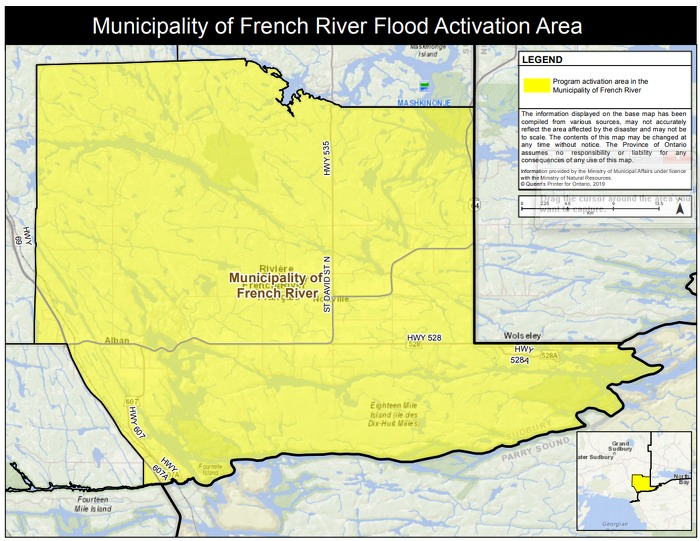 Ontario Government Activates Disaster Recovery Assistance to Support Residents in the Municipality of French River