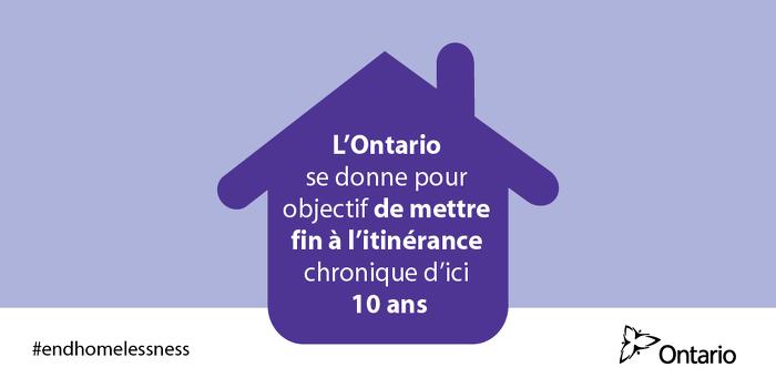 L'Ontario s'engage à mettre fin à l'itinérance chronique d'ici 10 ans