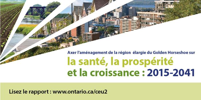 L'Ontario accueille favorablement le rapport sur la ceinture de verdure et la croissance intelligente