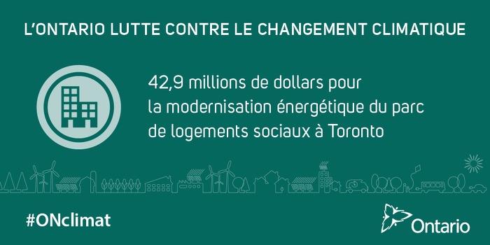 42,9 millions de dollars pour  la modernisation énergétique du parc de logements sociaux à Toronto