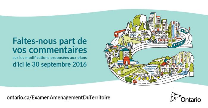 Donnez votre avis sur les modifications proposées aux plans provinciaux régissant l'aménagement du territoire