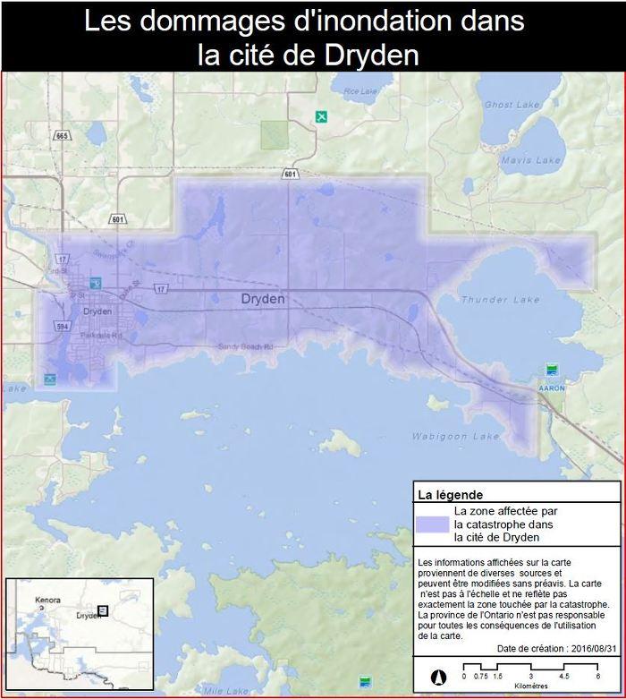 La province active le Programme d'aide aux sinistrés pour la reprise après une catastrophe dans la ville de Dryden