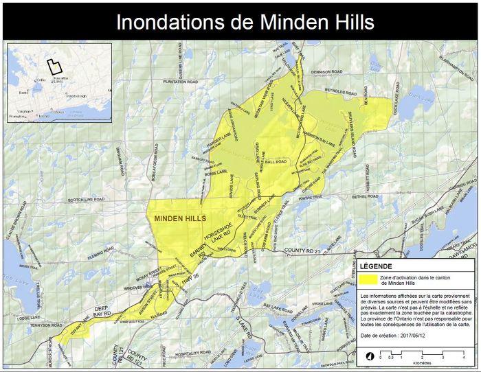 La Province déclenche l'Aide aux sinistrés pour la reprise après une catastrophe à Minden Hills