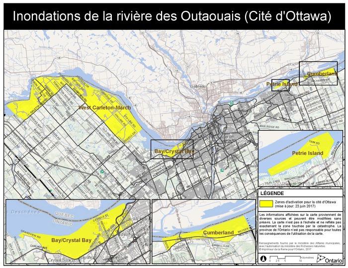 Mise à jour : la province étend l'Aide aux sinistrés pour la reprise après une catastrophe dans la région d'Ottawa