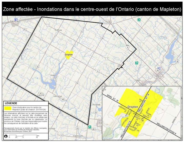 La province déclenche l'aide aux sinistrés pour la reprise après une catastrophe dans la région centrale de l'Ouest de l'Ontario
