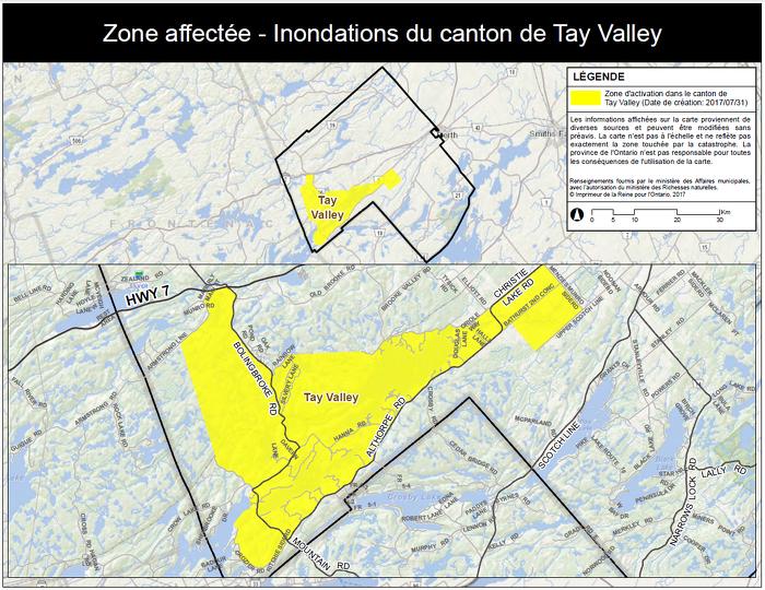 La province déclenche l'aide aux sinistrés pour la reprise après une catastrophe dans le canton de Tay Valley