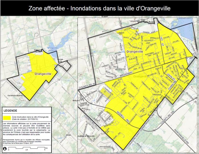 La province déclenche l'Aide aux sinistrés pour la reprise après une catastrophe à Orangeville