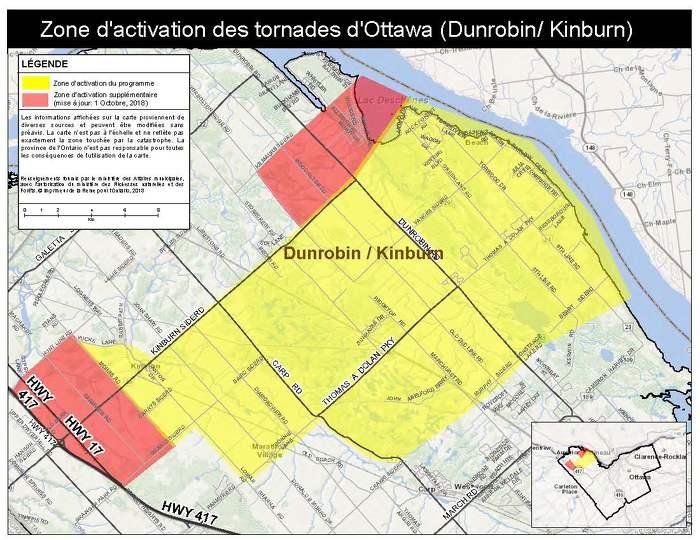 Mise à jour : La province agrandit la zone d'activation du Programme d'aide aux sinistrés pour la reprise après une catastrophe à Ottawa