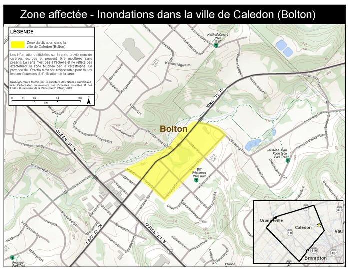 Le gouvernement de l'Ontario active l'Aide aux sinistrés pour la reprise après une catastrophe pour les résidents touchés de la ville de Caledon