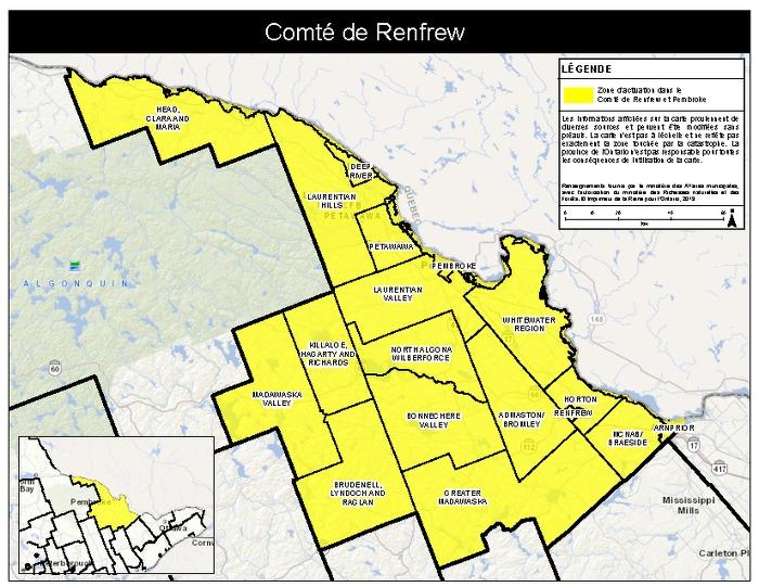 Zone d'activation dans le Comté de Renfrew et  Pembroke