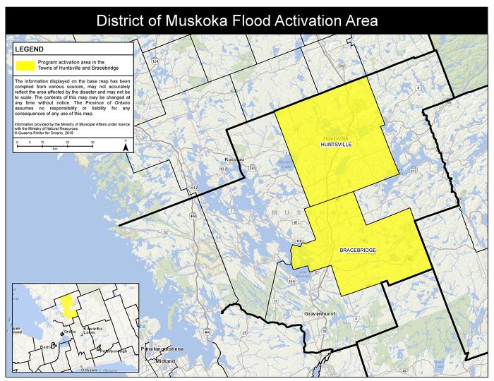 Le gouvernement de l'Ontario active l'Aide aux sinistrés pour la reprise après une catastrophe afin de soutenir les résidents de Bracebridge et de Huntsville