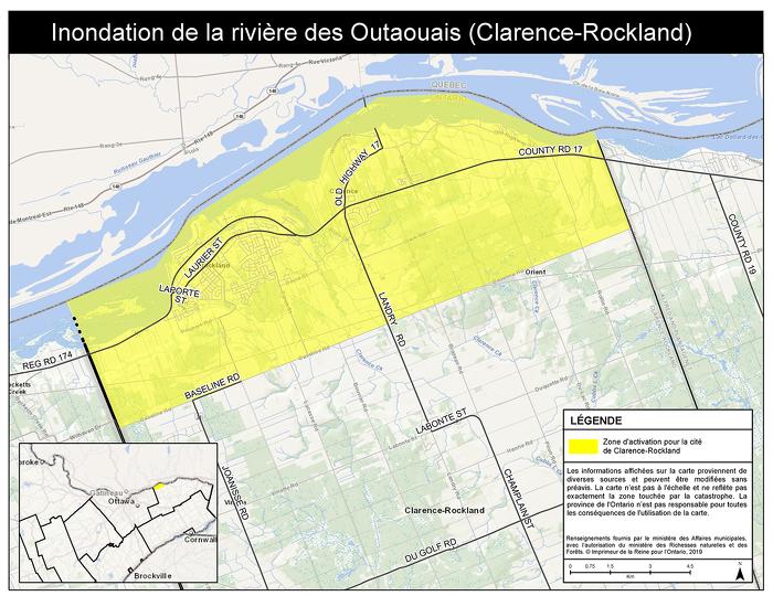 Inondation de la rivière des Outaouais (Clarence-Rockland)