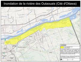 Inondation de la rivière des Outaouais (Cité d'Ottawa - est)