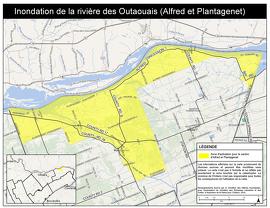 Inondation de la rivière des Outaouais (Alfred et Plantagenet)