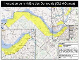 Inondation de la rivière des Outaouais (Cité d'Ottawa - ouest)