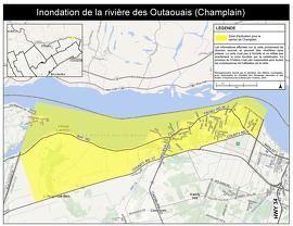 Inondation de la rivière d e s Outaouais (Champlain)