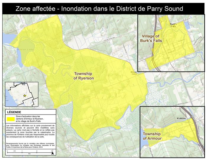 L'Ontario active l'Aide aux sinistrés pour la reprise après une catastrophe afin de soutenir les résidents du district de Parry Sound