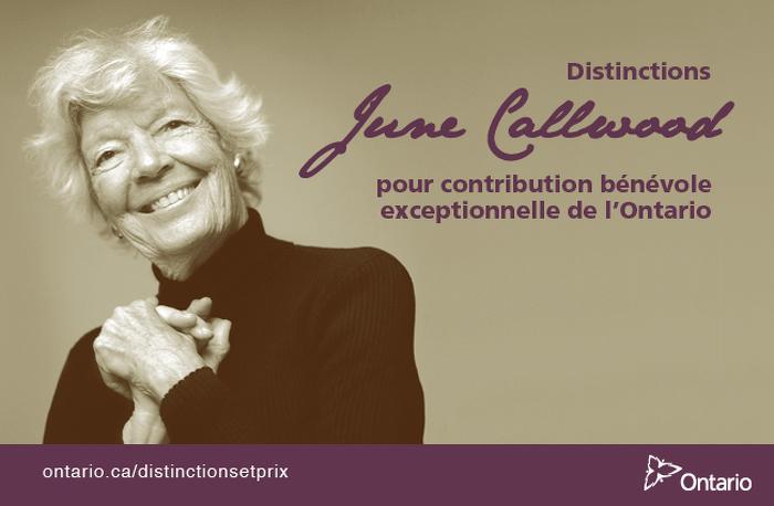 Des bénévoles exceptionnels reçoivent des Distinctions June Callwood