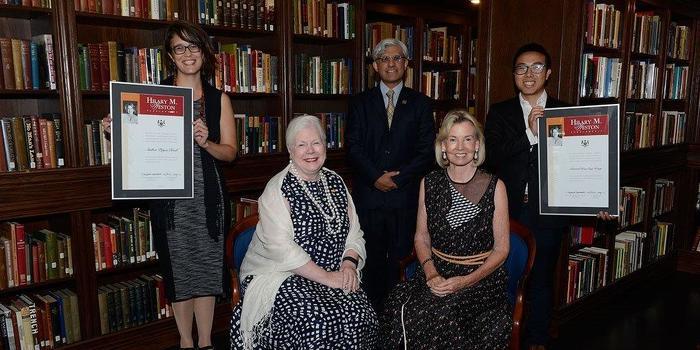 Amber Reid et Edward Hon-Sing Wong reçoivent une Bourse d'études Hilary Weston