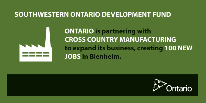Ontario Investing in Advanced Manufacturing in Blenheim