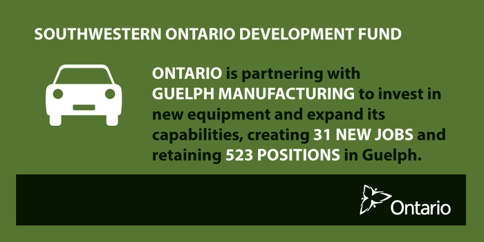 Ontario Investing in Manufacturing in Guelph