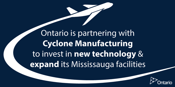 Ontario Supports Aerospace Innovation in Mississauga