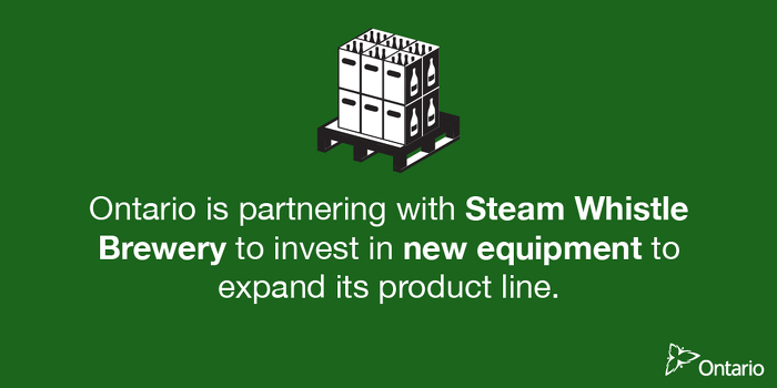 Newsroom : Ontario Partners with Steam Whistle to Support Over 240
