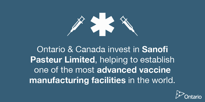 Cutting-edge Advanced Vaccine Facility to Make Canada Centre of Health Innovation
