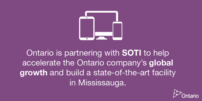 Ontario Supporting Over 1,100 Jobs in Mississauga