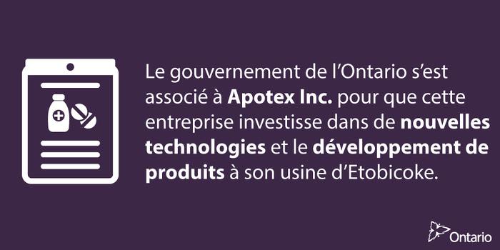 L'Ontario favorise l'innovation dans le secteur des sciences de la vie, à Toronto